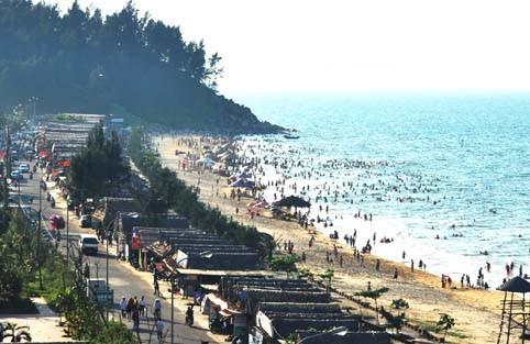 Một góc bãi biển